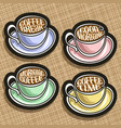set of colorful coffee cups vector image vector image