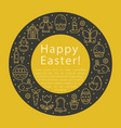 simple of easter vector image vector image