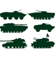 Soviet military vehicles vector image