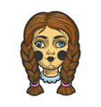 squint cockeyed doll sketch vector image