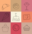 sweet and bakery seamless pattern for decoration vector image vector image