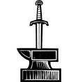 Sword in the Stone vector image vector image