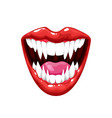 vampire mouth with teeth scary monster smile mask vector image vector image