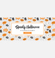 website spooky header or banner with halloween vector image vector image