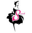 womens day of women silhouette icon vector image vector image