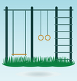 Childrens playground with swings vector image