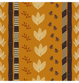 Seamless pattern with Tribal drawing vector image
