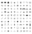 100 company icons vector image vector image