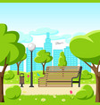 background with beautiful summer or spring city vector image