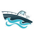boat on wave vector image