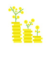 business banking finance money growth invest vector image vector image