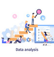 business data analysis teamwork strategy growth vector image