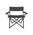 camping chair bold black silhouette icon isolated vector image vector image