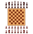 Chess playing figure pawn vector image