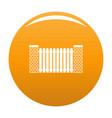 city fence icon orange vector image