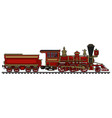 classic red wild west locomotive vector image vector image