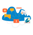 cloud computing services and technology vector image vector image