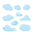 cloud set collection with various shape and blue vector image