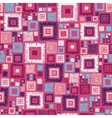 Colorful geometric squares seamless pattern vector image