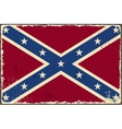 Confederate grunge flag vector image vector image