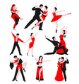 couples dancing latin american romantic person vector image