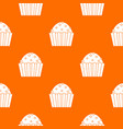 cup cake pattern seamless vector image vector image