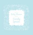 cute baby shower invitation card for newborn boy vector image