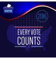 Digital usa election with vote box