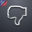 Dislike icon symbol 3D style Trendy modern design vector image