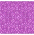 dots circles seamless pattern in shades lilac vector image