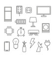 electronics icon set on white background vector image