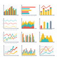 financial business graphics and diagram set in vector image
