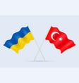 flag ukraine and turkey together a symbol vector image vector image