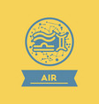 flat icon air sign zodiac vector image vector image