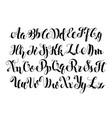 handwritten calligraphy symbols vector image vector image