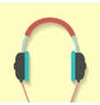 headphone icon in flat style vector image vector image