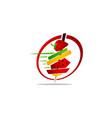 healthy food restaurant vector image