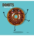 icon donut cream chocolate graphic vector image