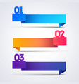 infographic with origami banners arrows 3 options vector image