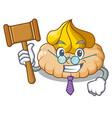 judge ice cream biscuit on wafers cartoon vector image vector image