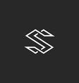 Letter S logo monogram modern symbol mockup for vector image vector image
