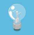 lightbulb isometric vector image vector image