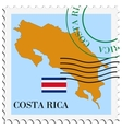 mail to-from Costa Rica vector image vector image