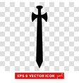 Medieval Sword Eps Icon vector image
