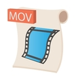 MOV icon cartoon style vector image vector image