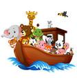 noah ark cartoon vector image vector image