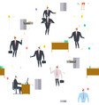 office party pattern holiday at work businessman vector image vector image