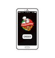 pizza house order mobile vector image vector image