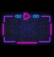playlist neon frame music neon sign vector image