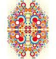 psychedelic circles vector image vector image